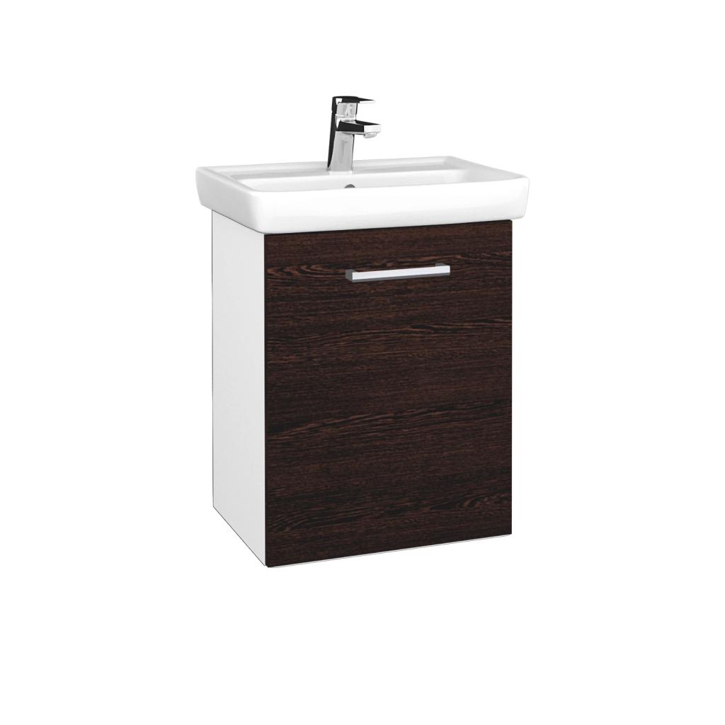 Dreja - Kúpeľňová skriňa DOOR SZD 50 - N01 Bílá lesk / Úchytka T03 / D08 Wenge / Pravé (340582CP)
