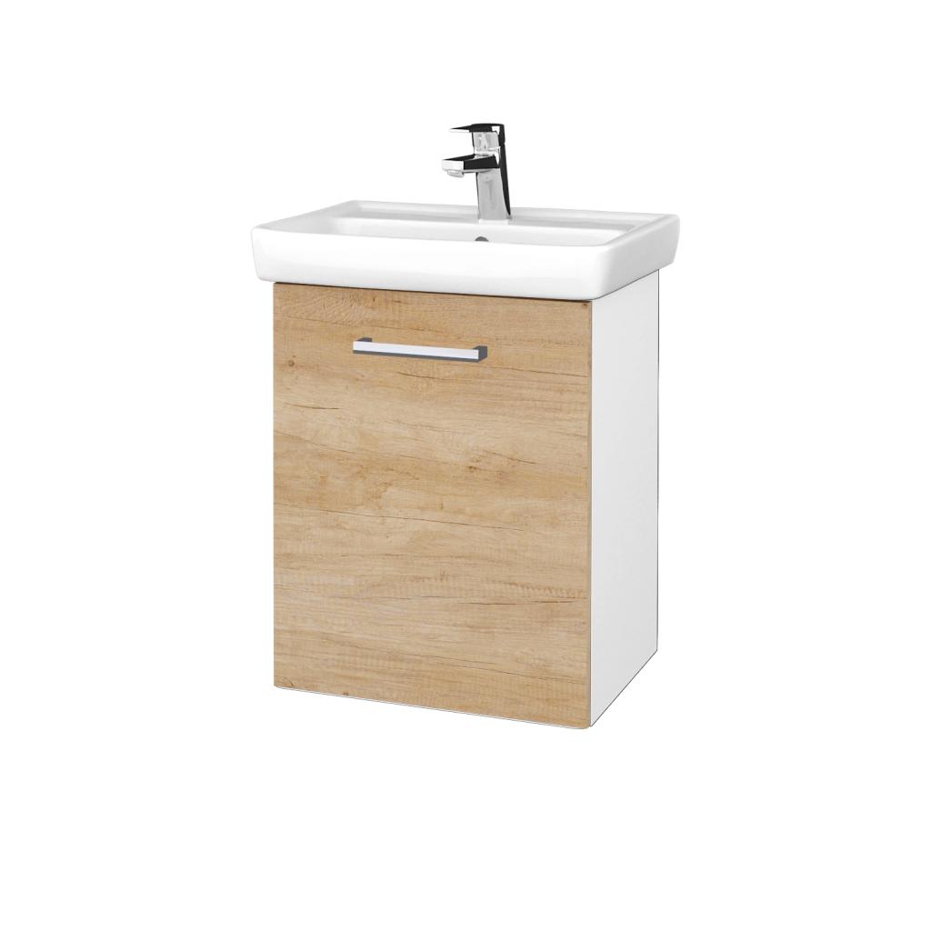 Dreja - Kúpeľňová skriňa DOOR SZD 50 - N01 Bílá lesk / Úchytka T03 / D15 Nebraska / Levé (340612C)