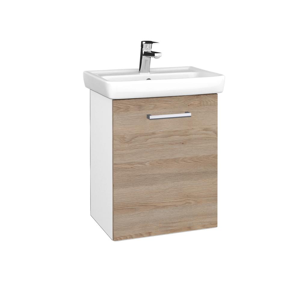 Dreja - Kúpeľňová skriňa DOOR SZD 50 - N01 Bílá lesk / Úchytka T03 / D17 Colorado / Pravé (340636CP)