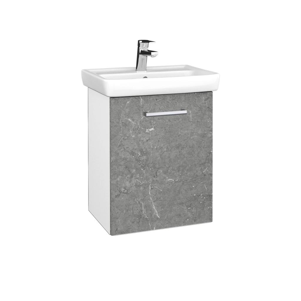 Dreja - Kúpeľňová skriňa DOOR SZD 50 - N01 Bílá lesk / Úchytka T03 / D20 Galaxy / Pravé (340643CP)