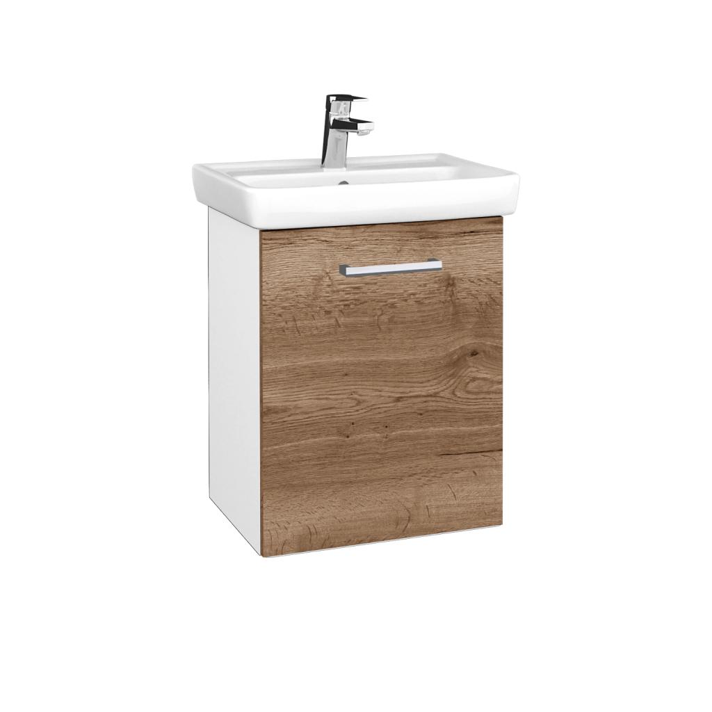 Dreja - Kúpeľňová skriňa DOOR SZD 50 - N01 Bílá lesk / Úchytka T03 / D21 Tobacco / Pravé (340650CP)