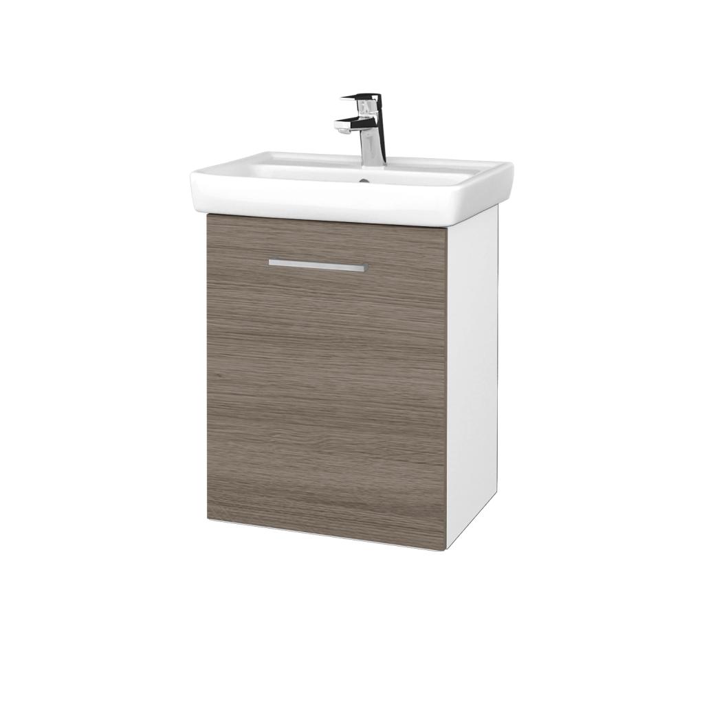 Dreja - Kúpeľňová skriňa DOOR SZD 50 - N01 Bílá lesk / Úchytka T04 / D03 Cafe / Levé (340544E)