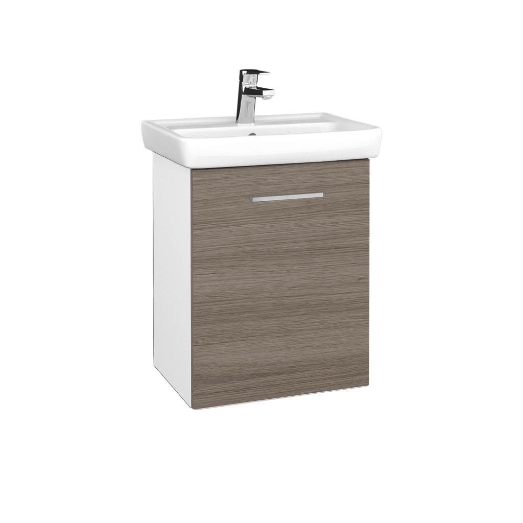 Dreja - Kúpeľňová skriňa DOOR SZD 50 - N01 Bílá lesk / Úchytka T04 / D03 Cafe / Pravé (340544EP)