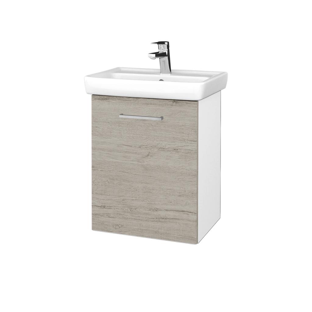 Dreja - Kúpeľňová skriňa DOOR SZD 50 - N01 Bílá lesk / Úchytka T04 / D05 Oregon / Levé (340568E)