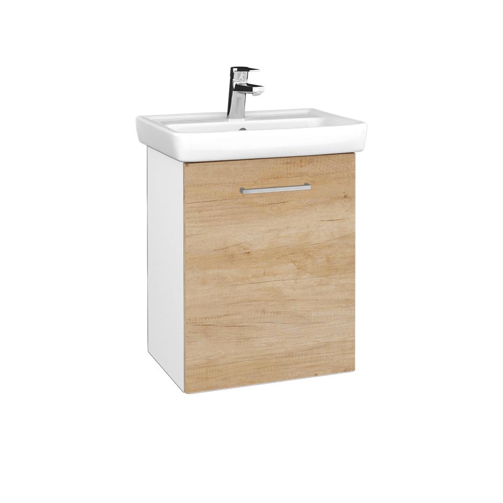 Dreja - Kúpeľňová skriňa DOOR SZD 50 - N01 Bílá lesk / Úchytka T04 / D15 Nebraska / Pravé (340612EP)