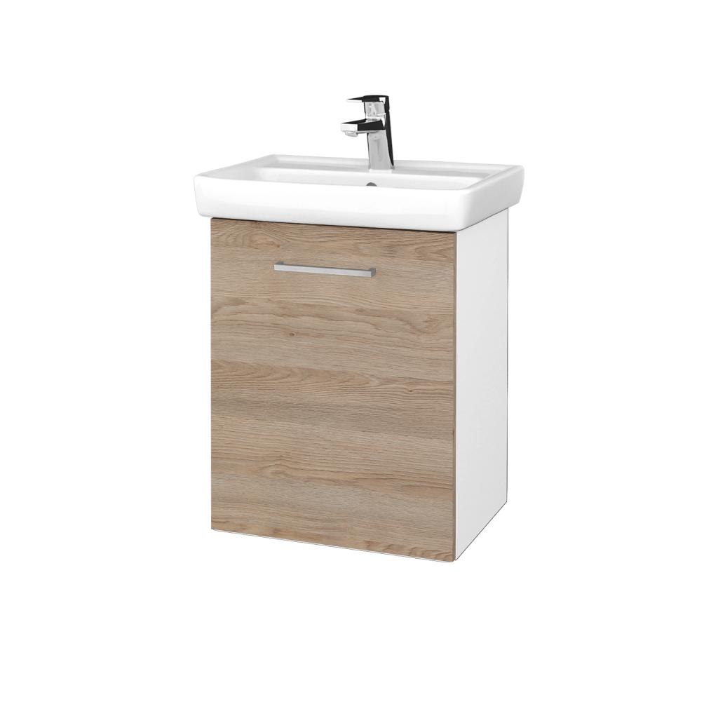 Dreja - Kúpeľňová skriňa DOOR SZD 50 - N01 Bílá lesk / Úchytka T04 / D17 Colorado / Levé (340636E)
