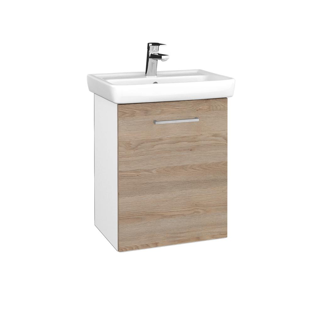 Dreja - Kúpeľňová skriňa DOOR SZD 50 - N01 Bílá lesk / Úchytka T04 / D17 Colorado / Pravé (340636EP)