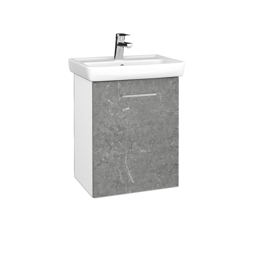 Dreja - Kúpeľňová skriňa DOOR SZD 50 - N01 Bílá lesk / Úchytka T04 / D20 Galaxy / Pravé (340643EP)