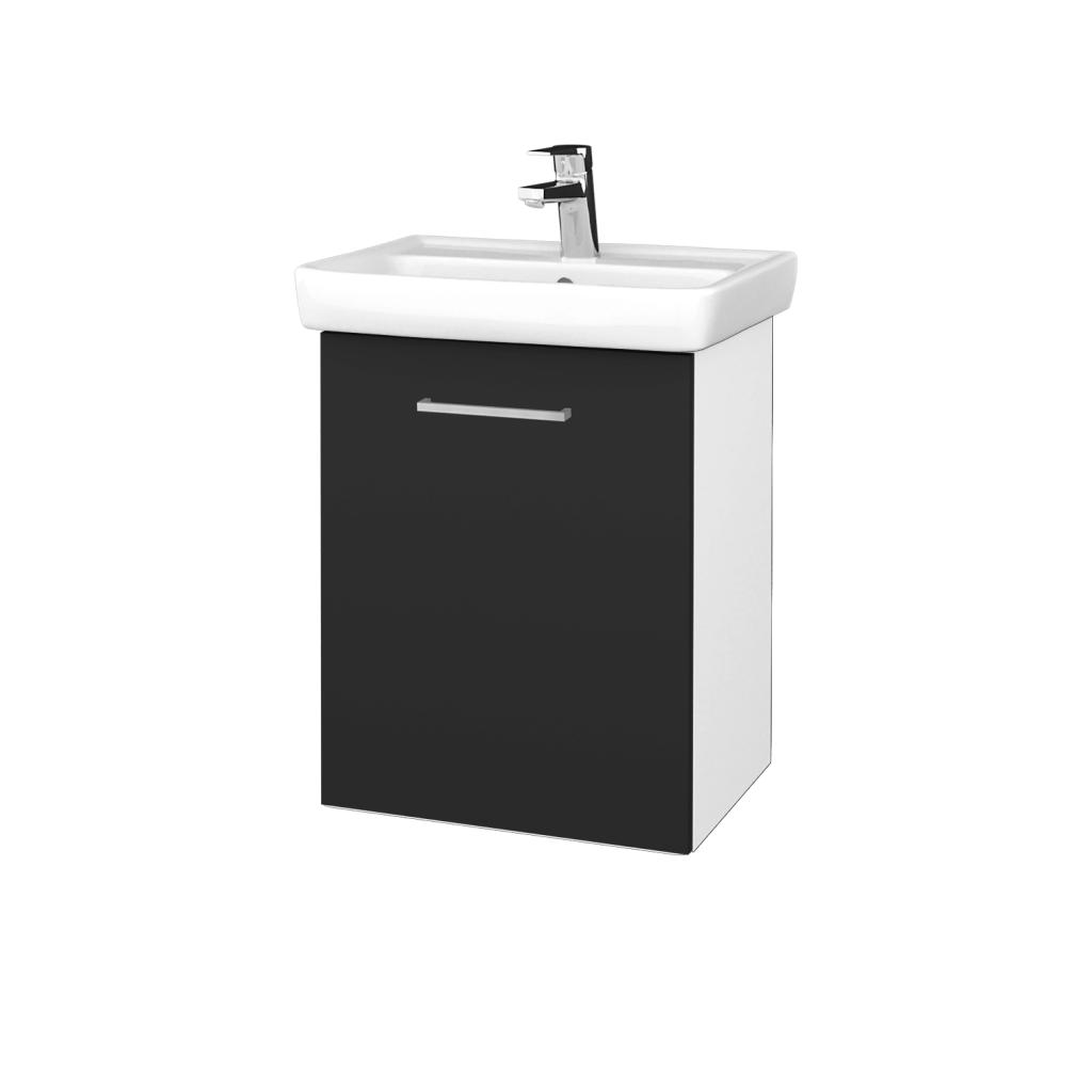 Dreja - Kúpeľňová skriňa DOOR SZD 50 - N01 Bílá lesk / Úchytka T04 / N03 Graphite / Levé (340667E)