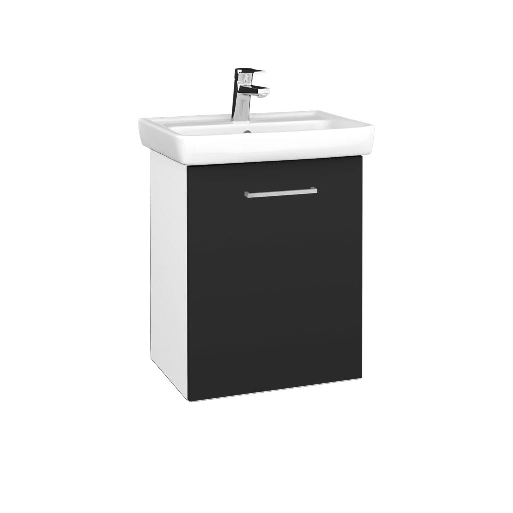 Dreja - Kúpeľňová skriňa DOOR SZD 50 - N01 Bílá lesk / Úchytka T04 / N03 Graphite / Pravé (340667EP)