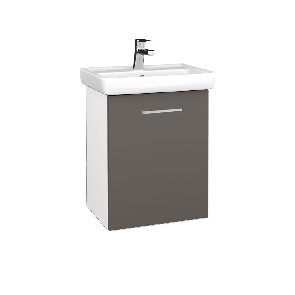 Dreja - Kúpeľňová skriňa DOOR SZD 50 - N01 Bílá lesk / Úchytka T04 / N06 Lava / Pravé (340674EP)