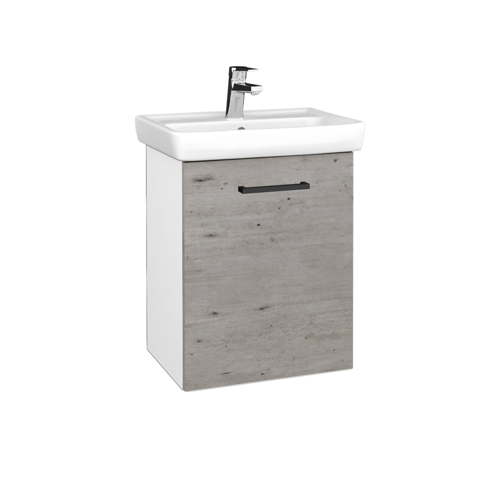 Dreja - Kúpeľňová skriňa DOOR SZD 50 - N01 Bílá lesk / Úchytka T06 / D01 Beton / Pravé (340520HP)