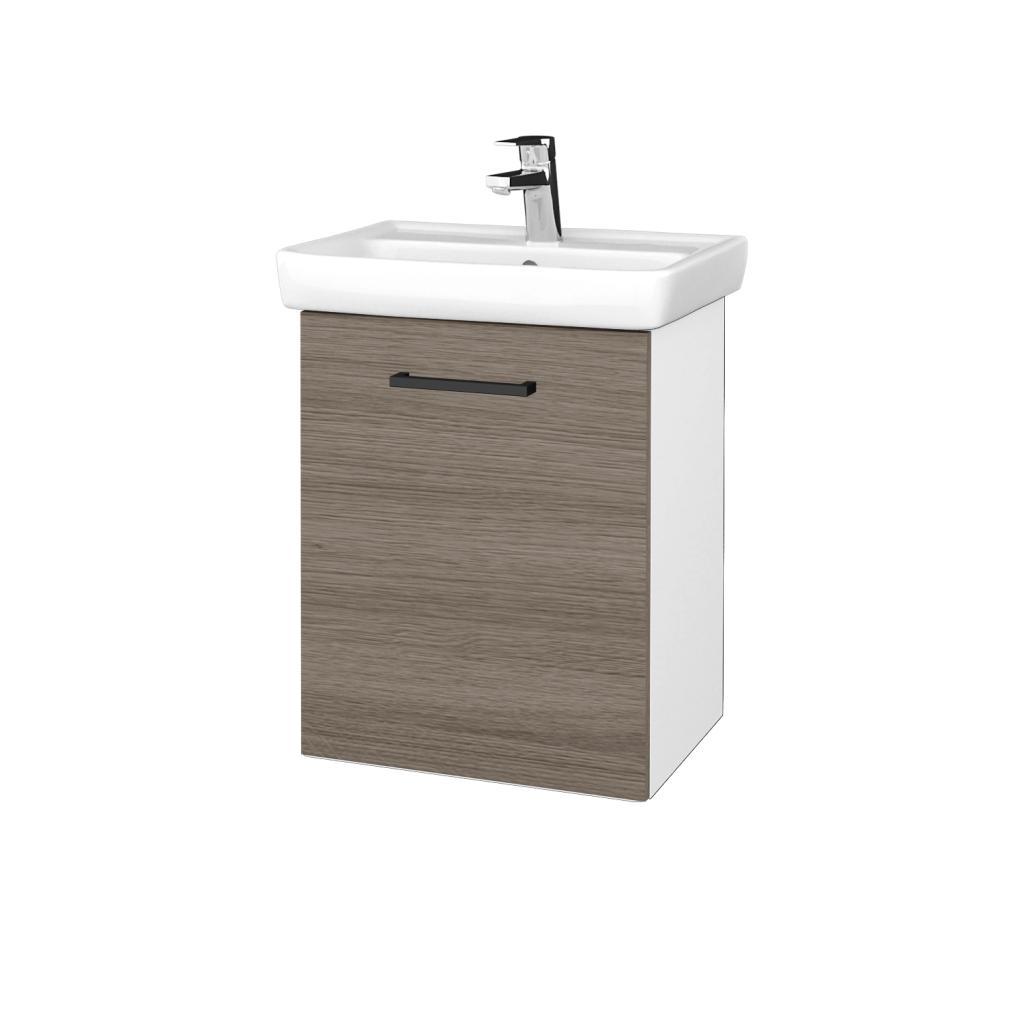 Dreja - Kúpeľňová skriňa DOOR SZD 50 - N01 Bílá lesk / Úchytka T06 / D03 Cafe / Levé (340544H)