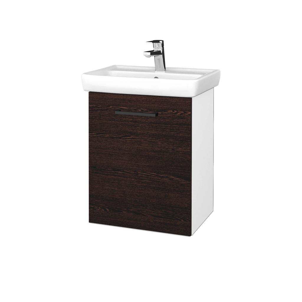 Dreja - Kúpeľňová skriňa DOOR SZD 50 - N01 Bílá lesk / Úchytka T06 / D08 Wenge / Levé (340582H)