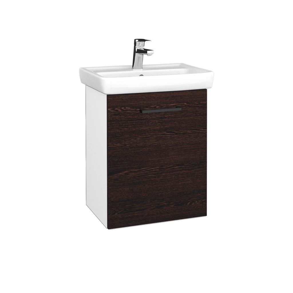 Dreja - Kúpeľňová skriňa DOOR SZD 50 - N01 Bílá lesk / Úchytka T06 / D08 Wenge / Pravé (340582HP)