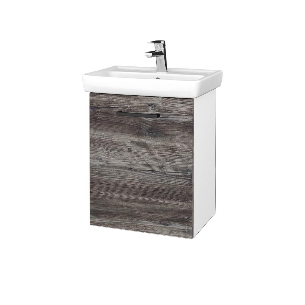 Dreja - Kúpeľňová skriňa DOOR SZD 50 - N01 Bílá lesk / Úchytka T06 / D10 Borovice Jackson / Levé (340605H)