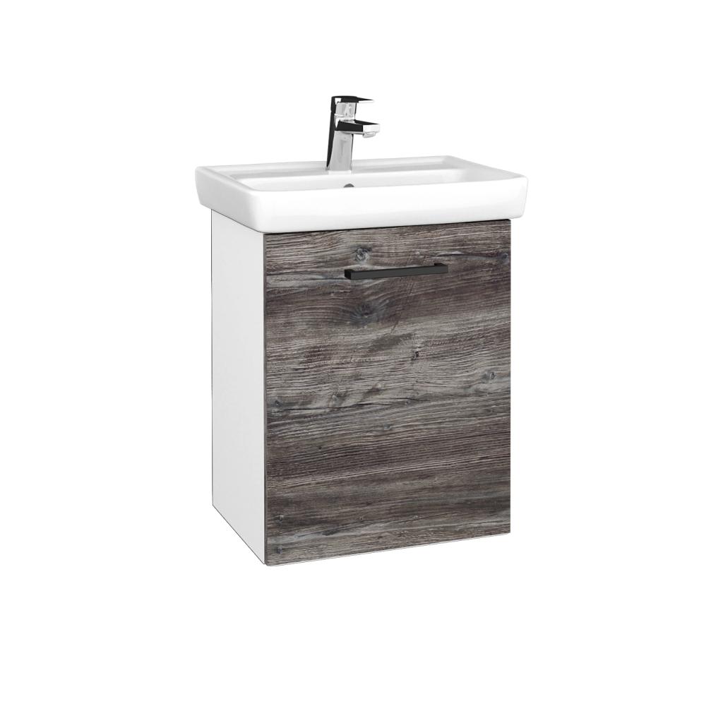 Dreja - Kúpeľňová skriňa DOOR SZD 50 - N01 Bílá lesk / Úchytka T06 / D10 Borovice Jackson / Pravé (340605HP)