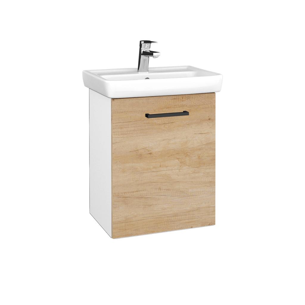 Dreja - Kúpeľňová skriňa DOOR SZD 50 - N01 Bílá lesk / Úchytka T06 / D15 Nebraska / Pravé (340612HP)