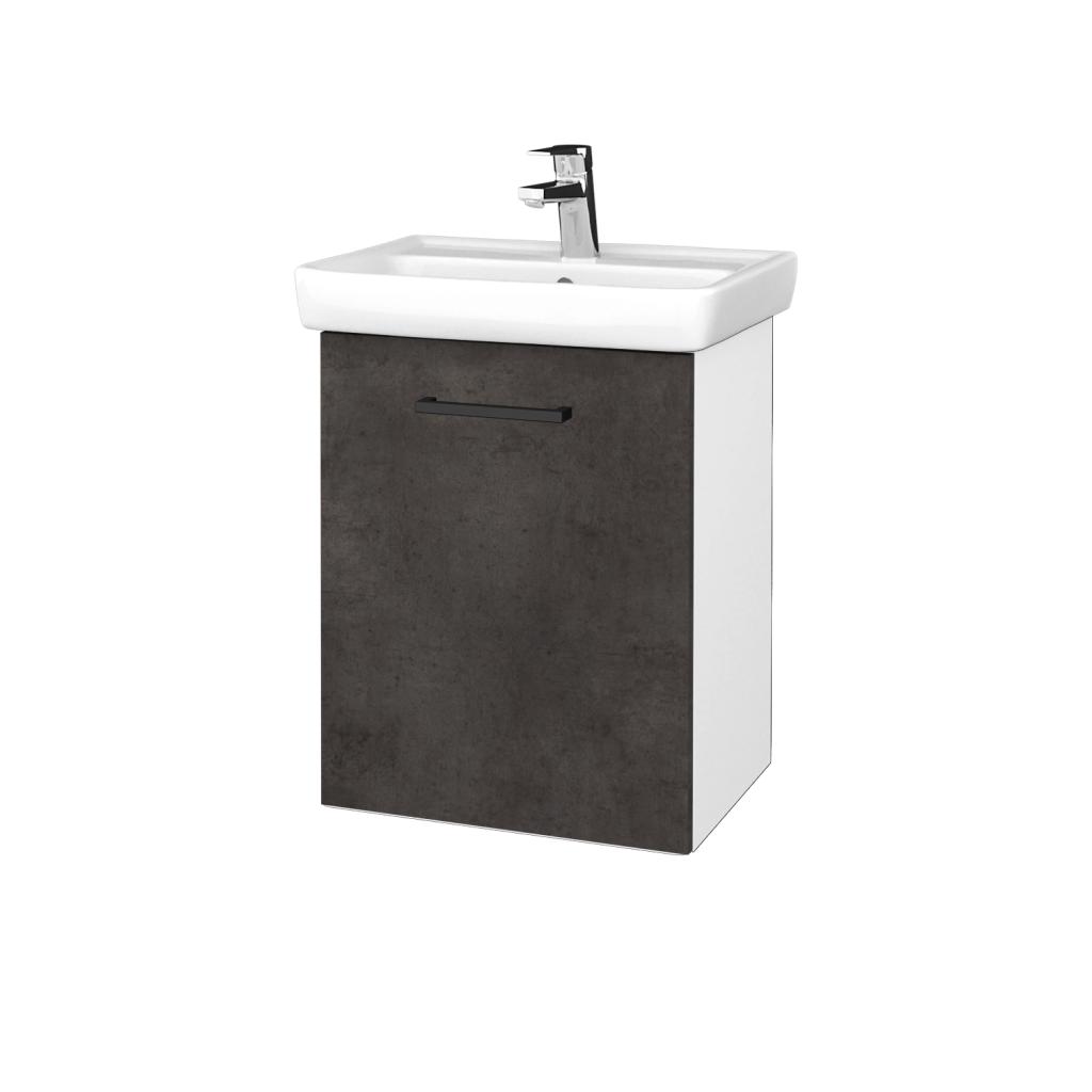 Dreja - Kúpeľňová skriňa DOOR SZD 50 - N01 Bílá lesk / Úchytka T06 / D16 Beton tmavý / Levé (340629H)