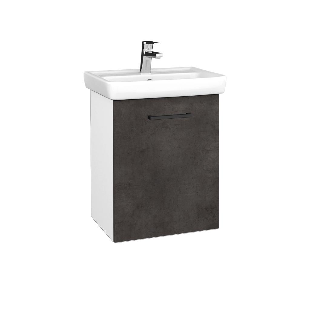 Dreja - Kúpeľňová skriňa DOOR SZD 50 - N01 Bílá lesk / Úchytka T06 / D16 Beton tmavý / Pravé (340629HP)