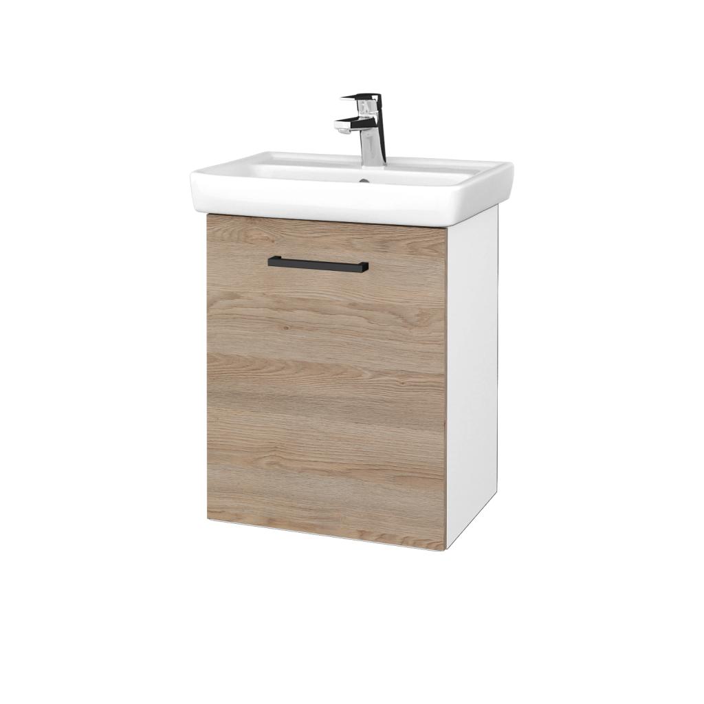Dreja - Kúpeľňová skriňa DOOR SZD 50 - N01 Bílá lesk / Úchytka T06 / D17 Colorado / Levé (340636H)