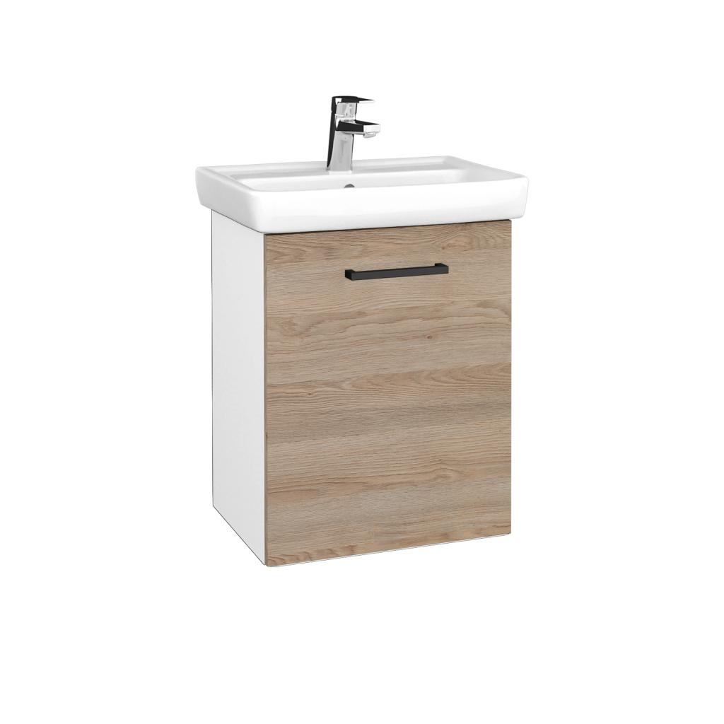 Dreja - Kúpeľňová skriňa DOOR SZD 50 - N01 Bílá lesk / Úchytka T06 / D17 Colorado / Pravé (340636HP)