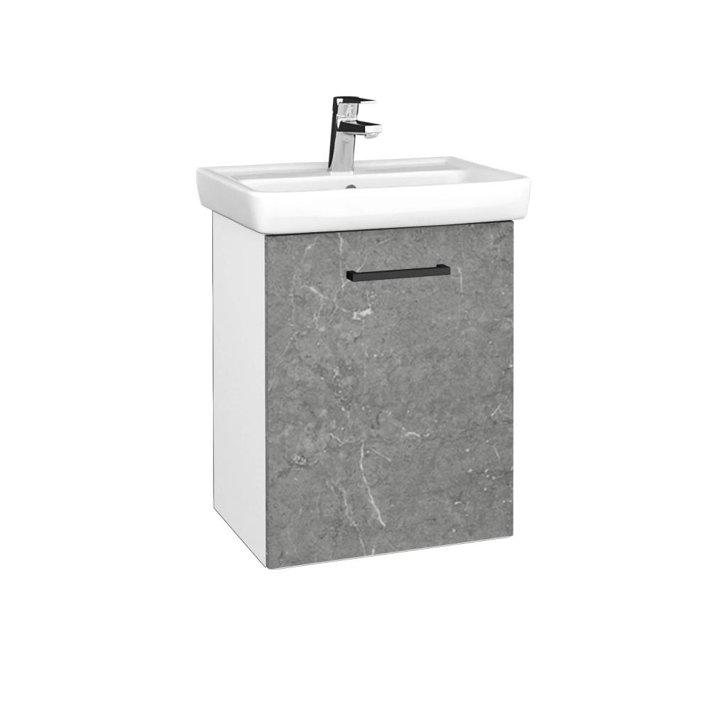Dreja - Kúpeľňová skriňa DOOR SZD 50 - N01 Bílá lesk / Úchytka T06 / D20 Galaxy / Pravé (340643HP)