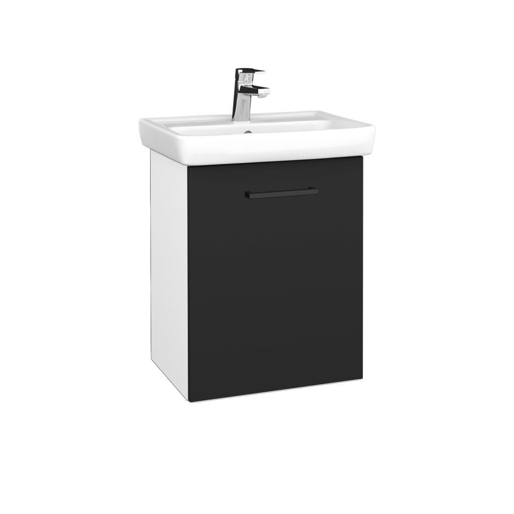 Dreja - Kúpeľňová skriňa DOOR SZD 50 - N01 Bílá lesk / Úchytka T06 / N03 Graphite / Pravé (340667HP)