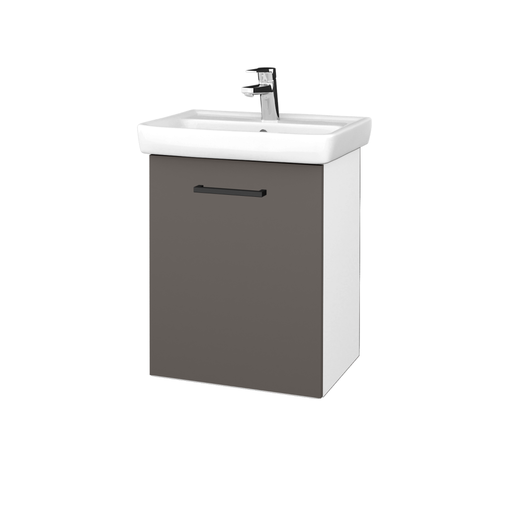 Dreja - Kúpeľňová skriňa DOOR SZD 50 - N01 Bílá lesk / Úchytka T06 / N06 Lava / Levé (340674H)