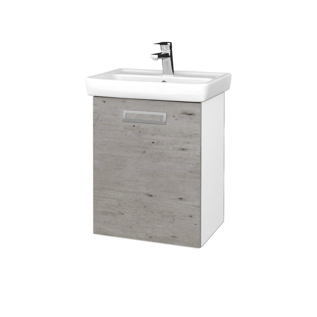 Dreja - Kúpeľňová skriňa DOOR SZD 50 - N01 Bílá lesk / Úchytka T39 / D01 Beton / Levé (340520G)