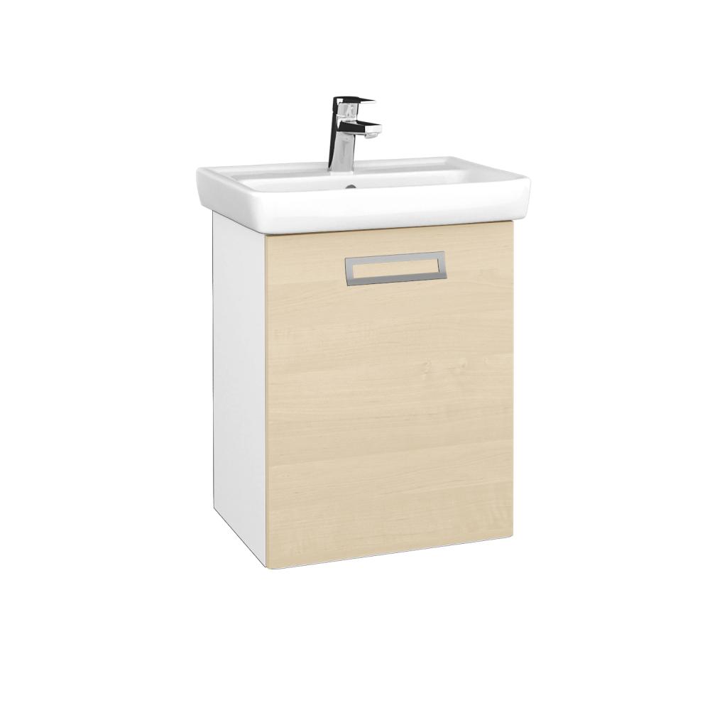 Dreja - Kúpeľňová skriňa DOOR SZD 50 - N01 Bílá lesk / Úchytka T39 / D02 Bříza / Pravé (340537GP)