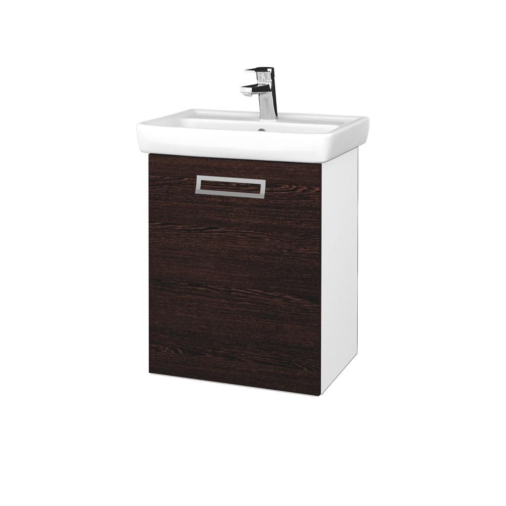 Dreja - Kúpeľňová skriňa DOOR SZD 50 - N01 Bílá lesk / Úchytka T39 / D08 Wenge / Levé (340582G)