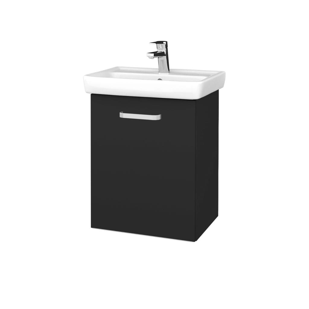 Dreja - Kúpeľňová skriňa DOOR SZD 50 - N03 Graphite / Úchytka T01 / N03 Graphite / Levé (340476A)