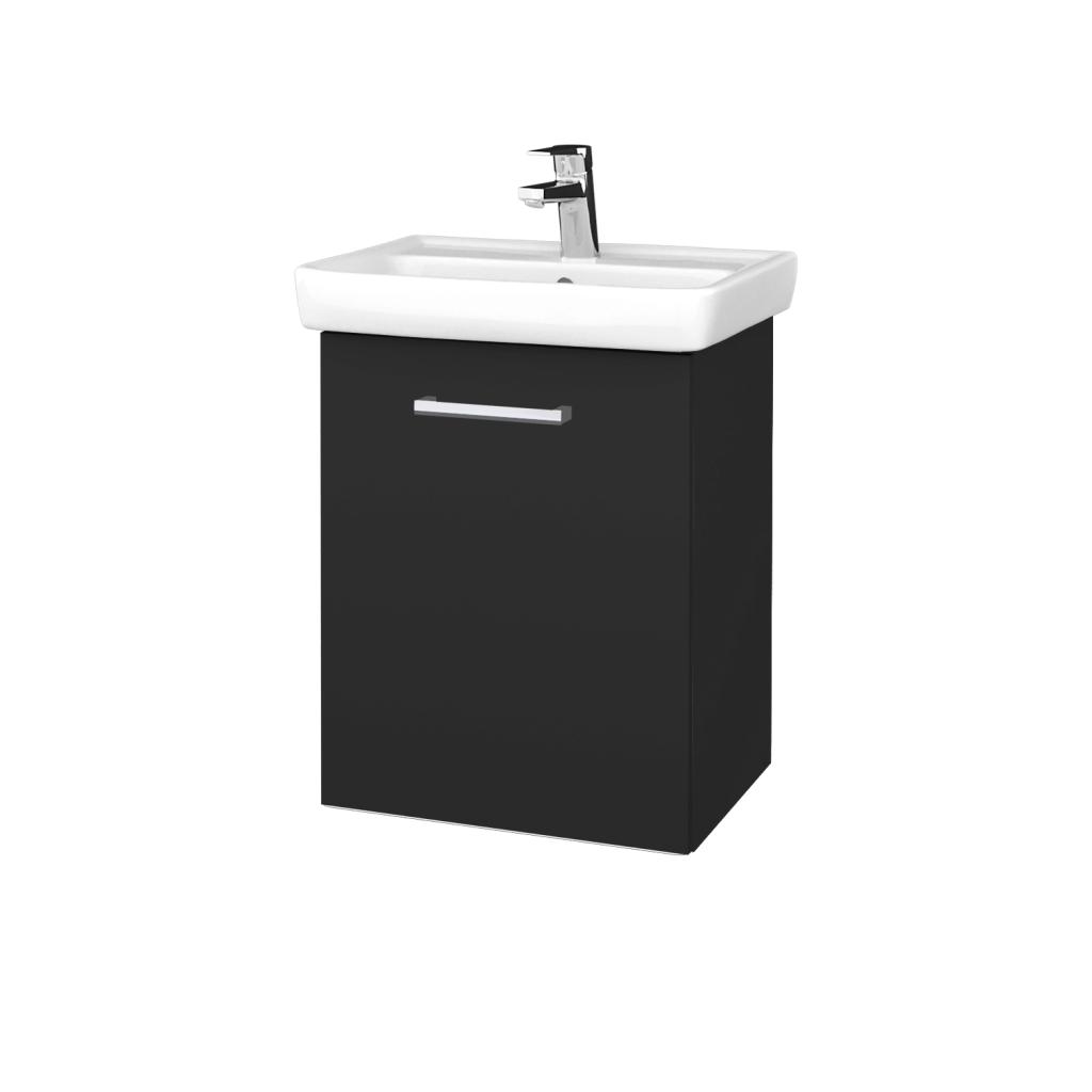 Dreja - Kúpeľňová skriňa DOOR SZD 50 - N03 Graphite / Úchytka T03 / N03 Graphite / Levé (340476C)