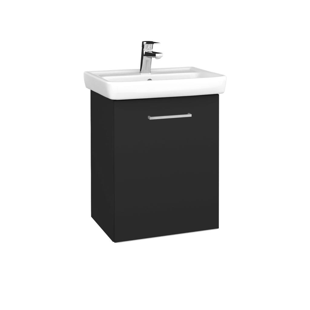 Dreja - Kúpeľňová skriňa DOOR SZD 50 - N03 Graphite / Úchytka T04 / N03 Graphite / Pravé (340476EP)