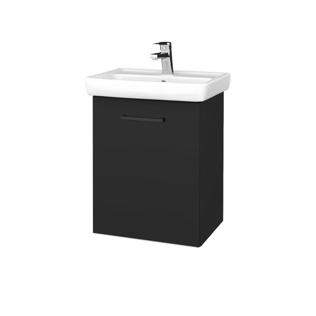 Dreja - Kúpeľňová skriňa DOOR SZD 50 - N03 Graphite / Úchytka T06 / N03 Graphite / Levé (340476H)