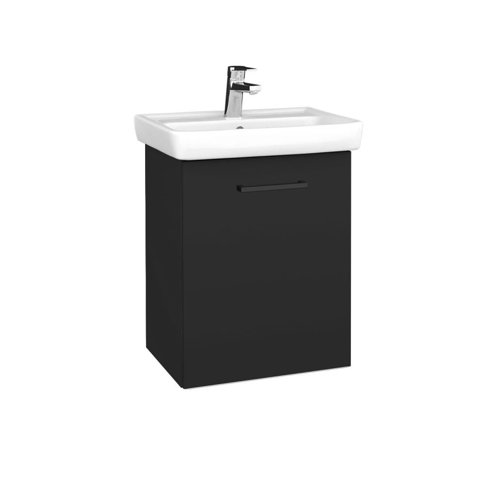 Dreja - Kúpeľňová skriňa DOOR SZD 50 - N03 Graphite / Úchytka T06 / N03 Graphite / Pravé (340476HP)