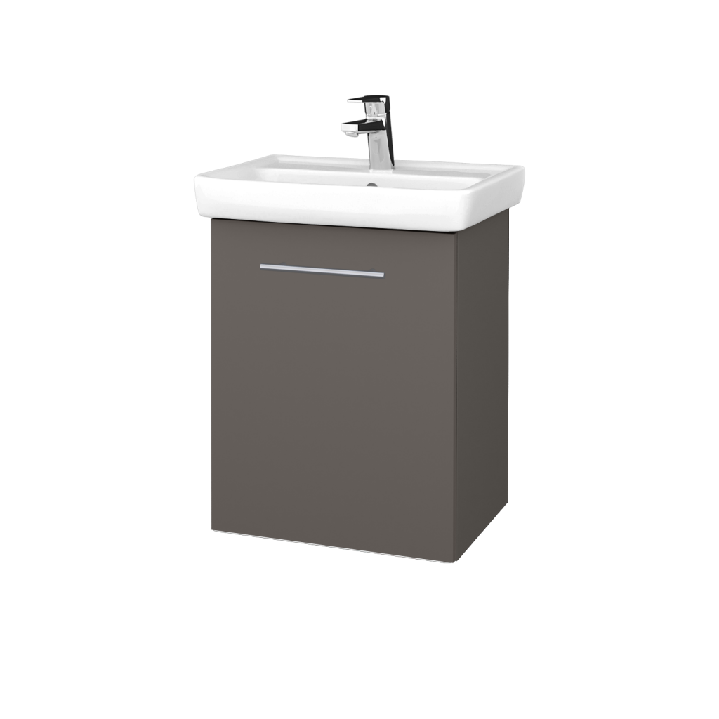 Dreja - Kúpeľňová skriňa DOOR SZD 50 - N06 Lava / Úchytka T02 / N06 Lava / Levé (340483B)
