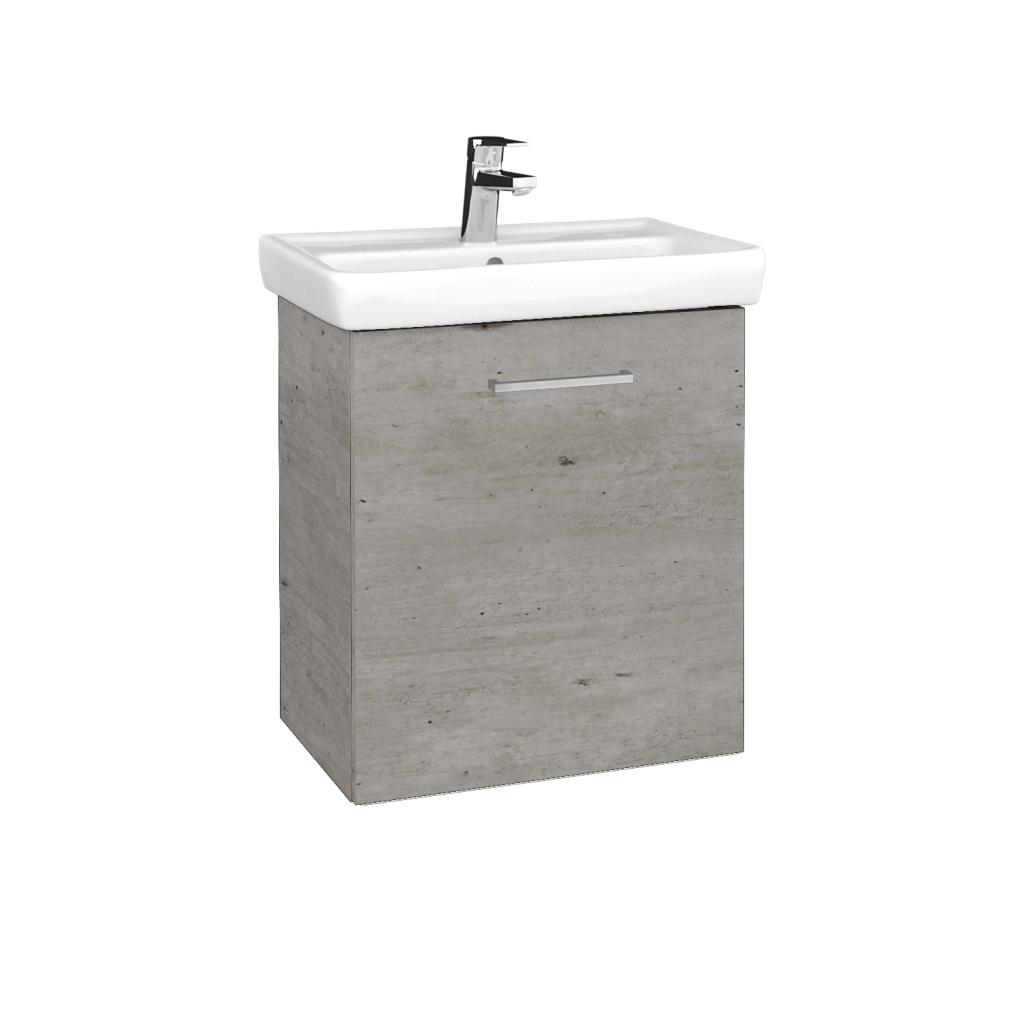 Dreja - Kúpeľňová skriňa DOOR SZD 55 - D01 Beton / Úchytka T04 / D01 Beton / Pravé (340711EP)