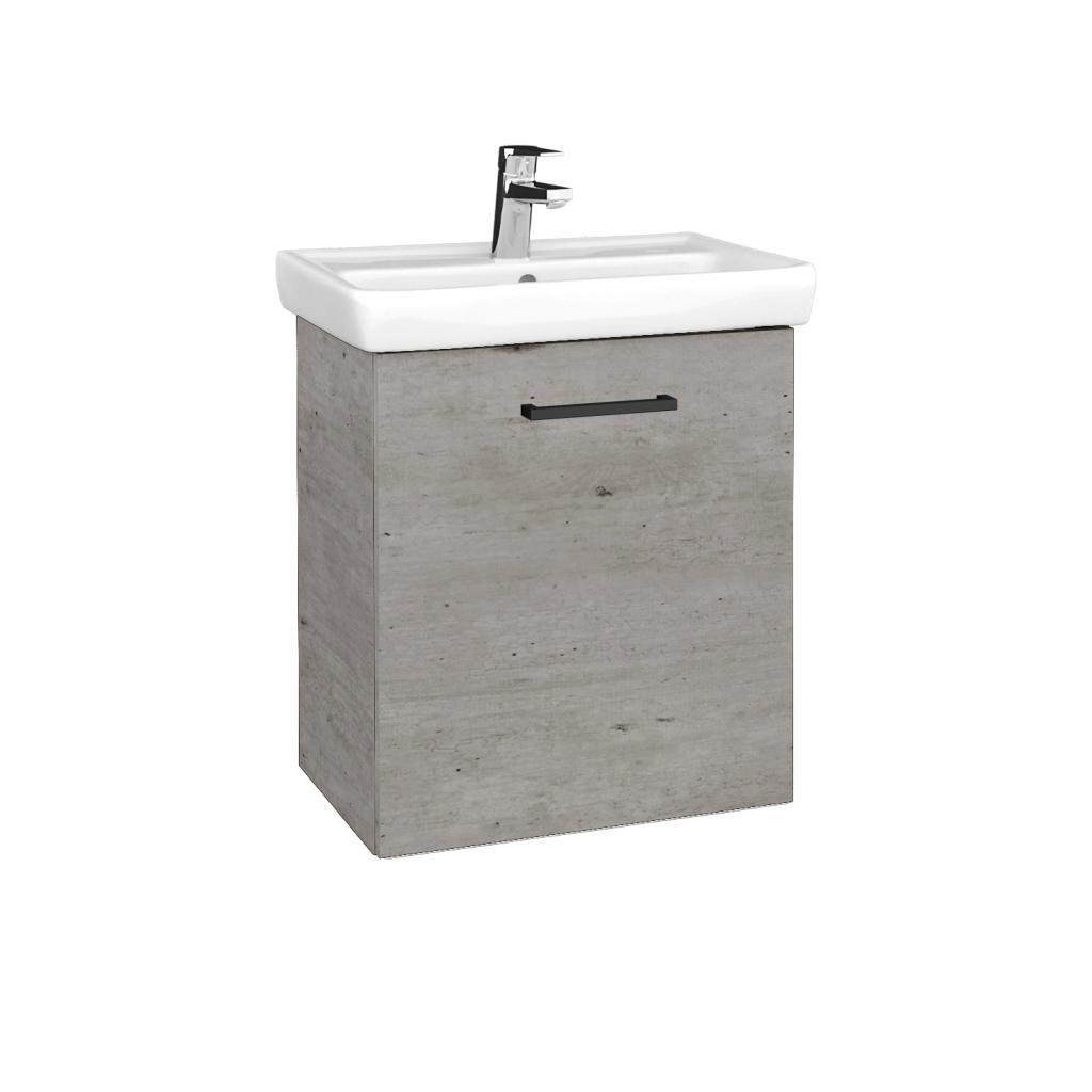 Dreja - Kúpeľňová skriňa DOOR SZD 55 - D01 Beton / Úchytka T06 / D01 Beton / Pravé (340711HP)