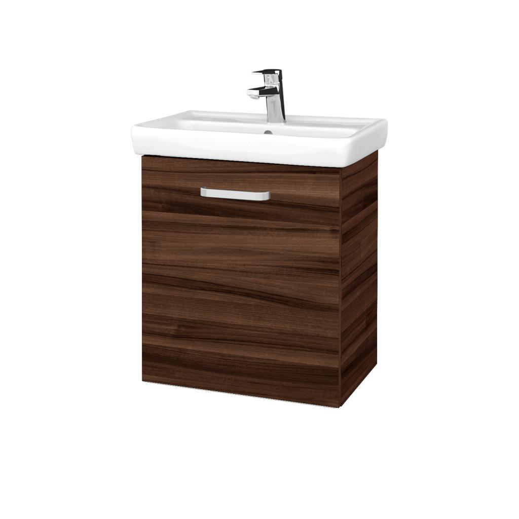 Dreja - Kúpeľňová skriňa DOOR SZD 55 - D06 Ořech / Úchytka T01 / D06 Ořech / Levé (340766A)