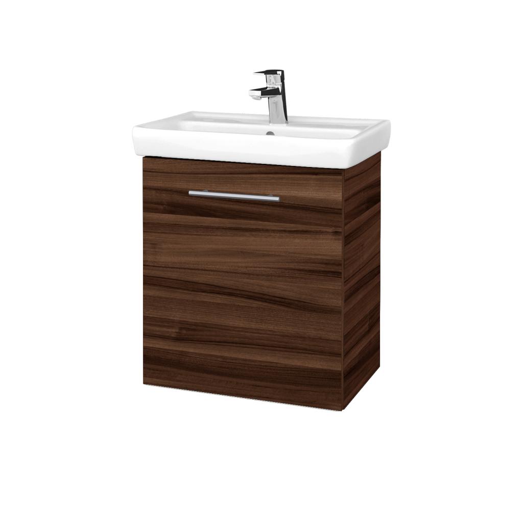 Dreja - Kúpeľňová skriňa DOOR SZD 55 - D06 Ořech / Úchytka T02 / D06 Ořech / Levé (340766B)