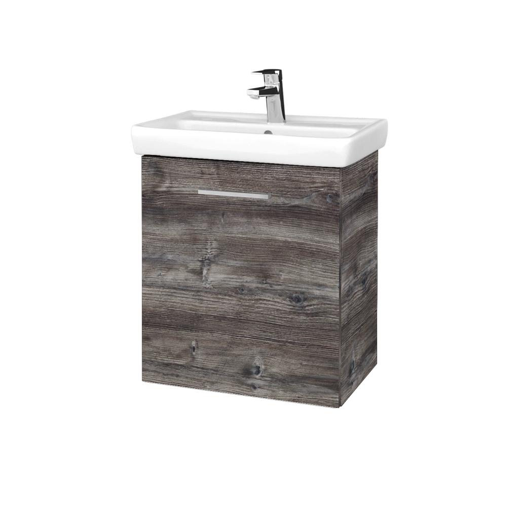Dreja - Kúpeľňová skriňa DOOR SZD 55 - D10 Borovice Jackson / Úchytka T04 / D10 Borovice Jackson / Levé (340797E)