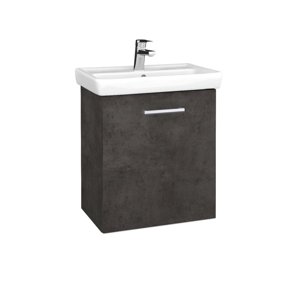 Dreja - Kúpeľňová skriňa DOOR SZD 55 - D16  Beton tmavý / Úchytka T03 / D16 Beton tmavý / Pravé (340810CP)