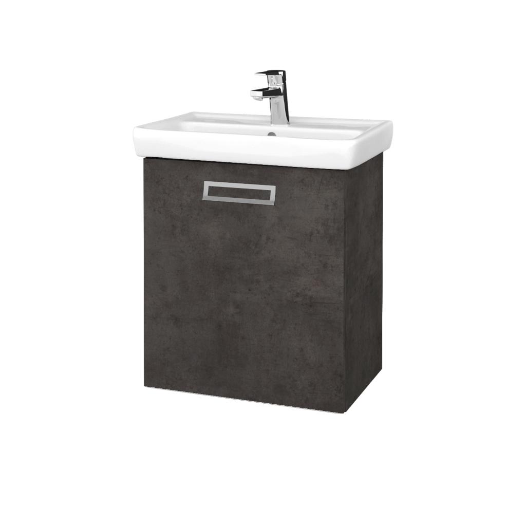 Dreja - Kúpeľňová skriňa DOOR SZD 55 - D16  Beton tmavý / Úchytka T39 / D16 Beton tmavý / Levé (340810G)