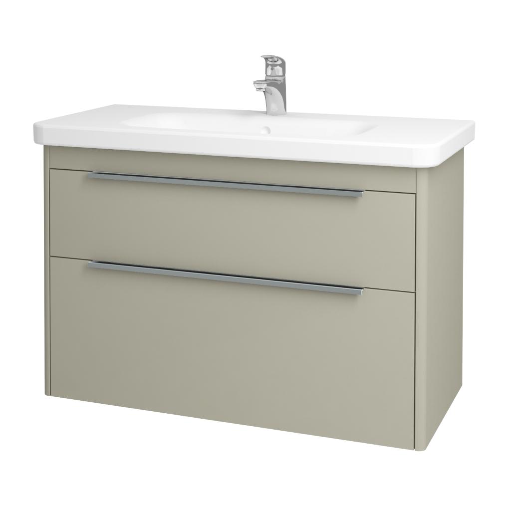 Dreja - Kúpeľňová skriňa ENZO SZZ2 100 - L04 Béžová vysoký lesk / L04 Béžová vysoký lesk (52501)