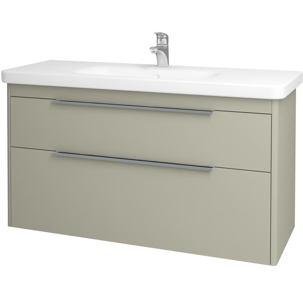 Dreja - Kúpeľňová skriňa ENZO SZZ2 120 - L04 Béžová vysoký lesk / L04 Béžová vysoký lesk (52518)