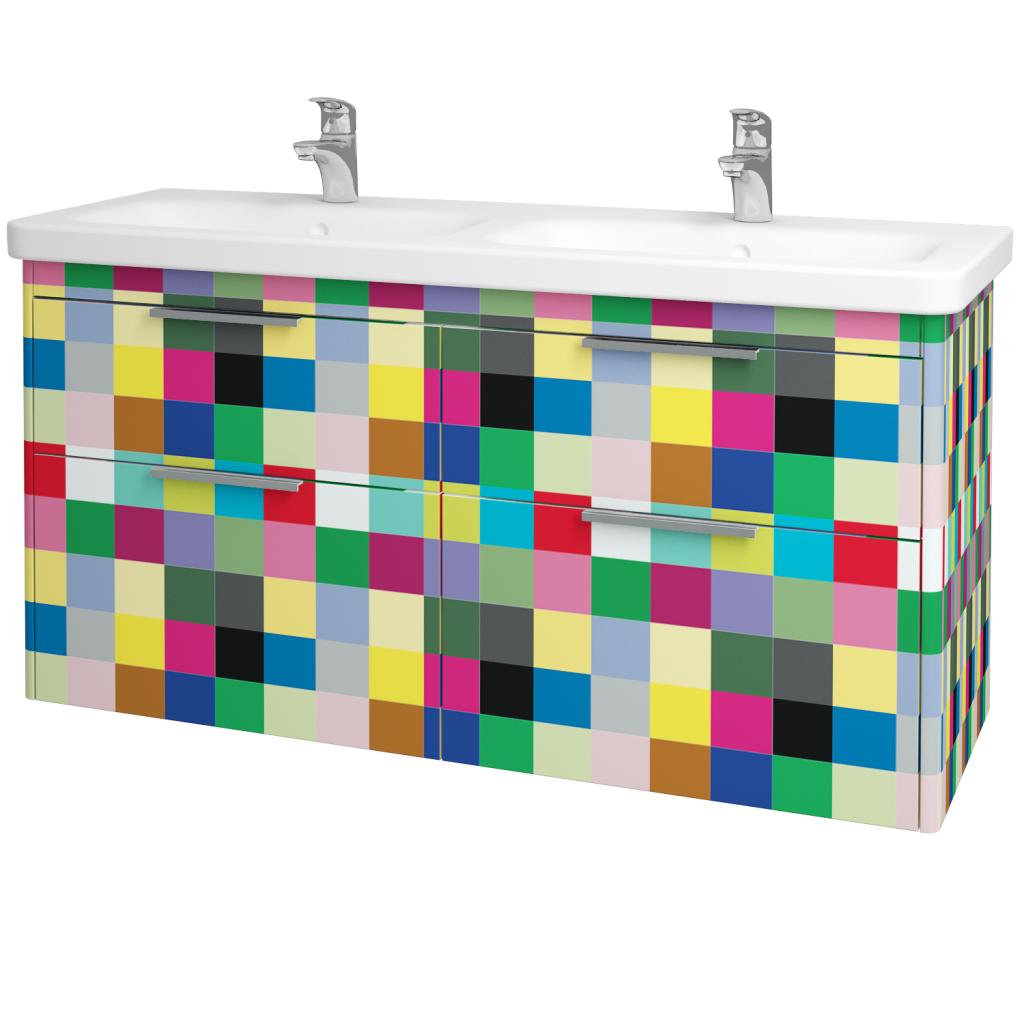 Dreja - Kúpeľňová skriňa ENZO SZZ4 130 - IND Individual / IND Individual (130176)