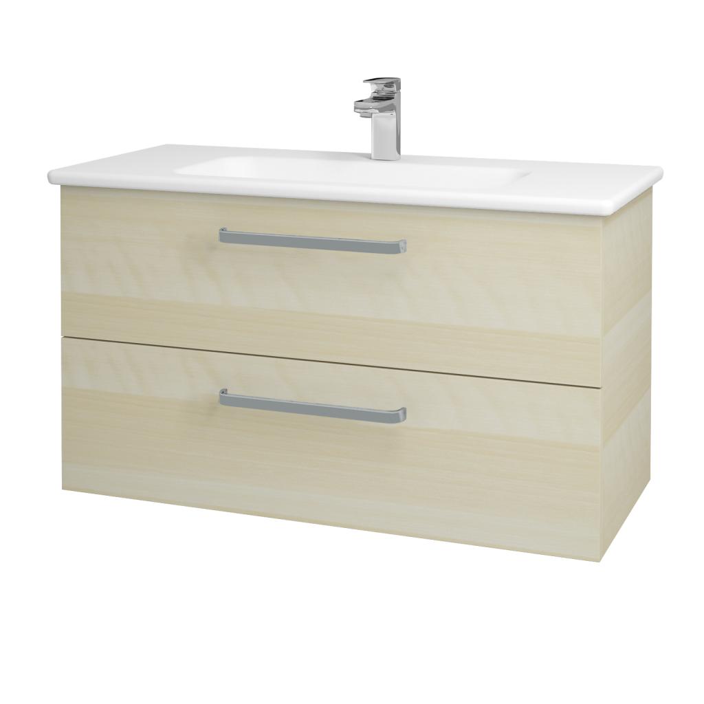 Dreja - Kúpeľňová skriňa GIO SZZ2 100 - D02 Bříza / Úchytka T01 / D02 Bříza (130633A)
