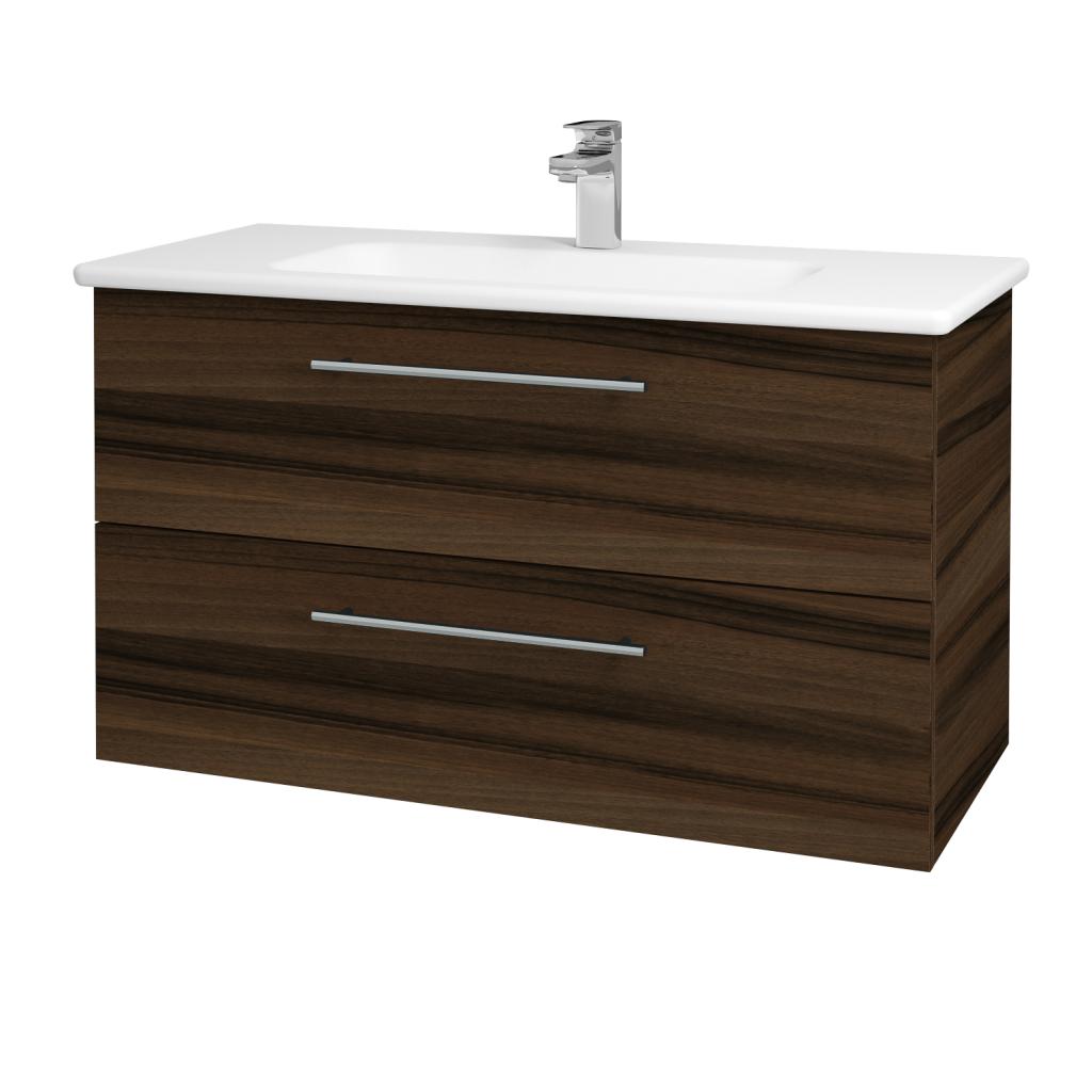 Dreja - Kúpeľňová skriňa GIO SZZ2 100 - D06 Ořech / Úchytka T02 / D06 Ořech (130671B)
